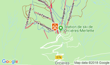 Karte Orcières Merlette Appartement 40002