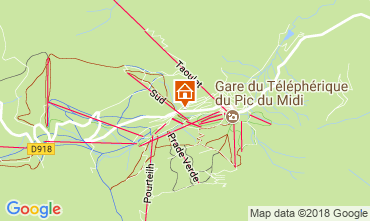 Karte La Mongie Studio 4305