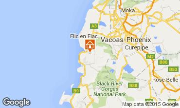 Karte Flic-en-Flac Fremdenzimmer 61030