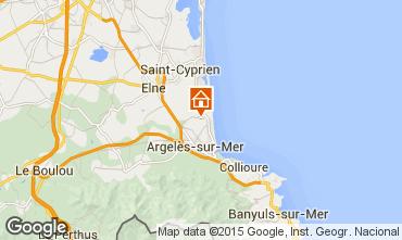 Karte Argeles sur Mer Mobil-Home 55744