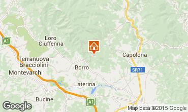 Karte Arezzo Ferienunterkunft auf dem Land 57056