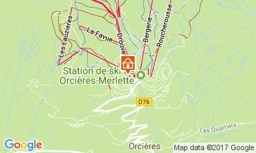 Karte Orcières Merlette Appartement 2028