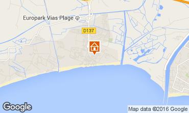 Karte Vias Plage Mobil-Home 74240