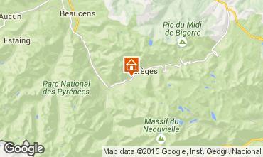 Karte Barèges Ferienunterkunft auf dem Land 80104