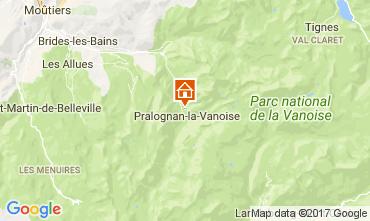 Karte Pralognan la Vanoise Appartement 52387