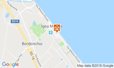 Karte Bellaria Igea Marina Appartement 70343