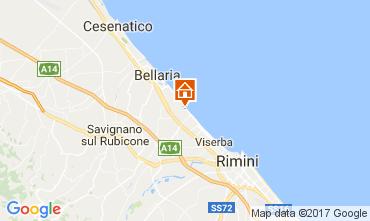 Karte Bellaria Igea Marina Fremdenzimmer 109717