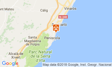 Karte Peñíscola Appartement 32523