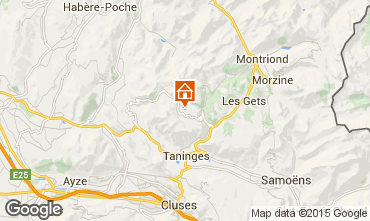 Karte Praz de Lys Sommand Chalet 101067