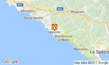 Karte Levanto Appartement 108814