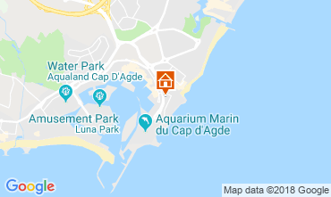 Karte Cap d'Agde Appartement 55415