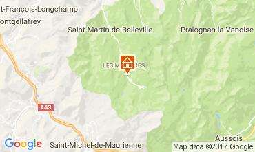 Karte Les Menuires Chalet 101006