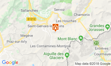 Karte Saint-Gervais-les-Bains Ferienunterkunft auf dem Land 117570