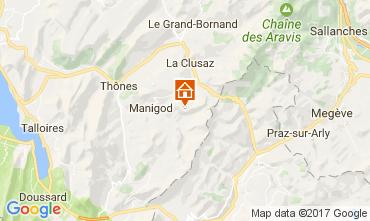 Karte Manigod-Croix Fry/L'étale-Merdassier Appartement 82225