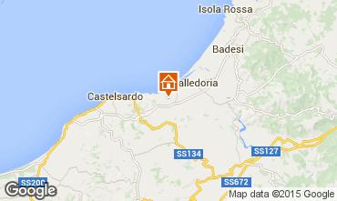 Karte Valledoria Appartement 95541