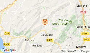 Karte Le Grand Bornand Appartement 52301