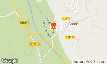 Karte Alpe d'Huez Studio 58962
