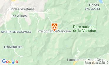 Karte Pralognan la Vanoise Appartement 2280