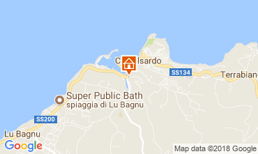 Karte Castelsardo Appartement 115440