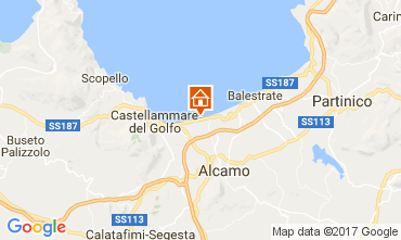 Karte Castellammare del Golfo Haus 110853