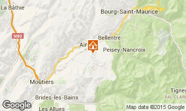 Karte La Plagne Chalet 2202