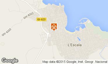 Karte L'Escala Haus 81562