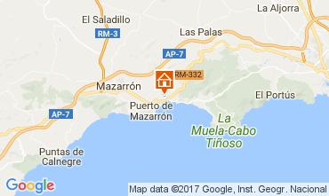 Karte Puerto de Mazarrón Appartement 112636