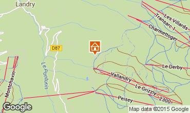 Karte Peisey-Vallandry Chalet 74279