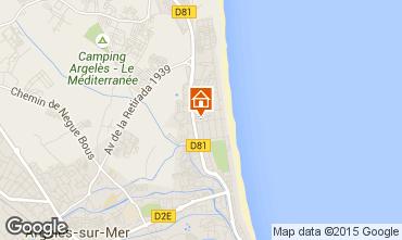 Karte Argeles sur Mer Appartement 69650