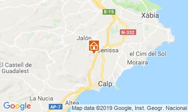 Karte Benissa Villa 116425
