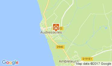 Karte Audresselles Ferienunterkunft auf dem Land 101559