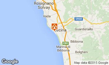 Karte Cecina Appartement 90567