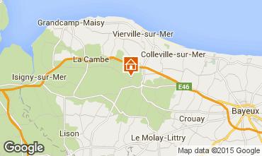 Karte Bayeux Ferienunterkunft auf dem Land 11456