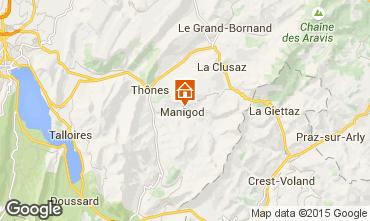 Karte Manigod-Croix Fry/L'étale-Merdassier Chalet 101553
