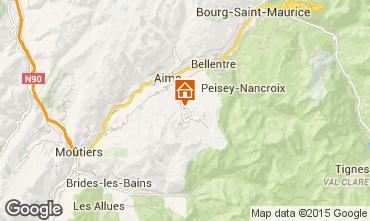 Karte La Plagne Chalet 2148
