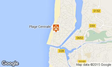 Karte Hossegor Appartement 94324