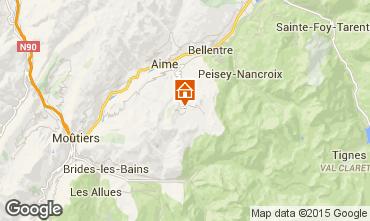Karte La Plagne Chalet 56090