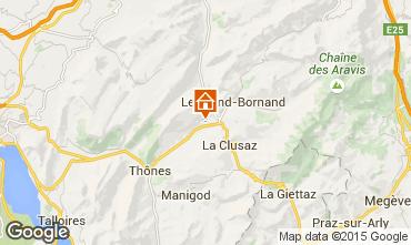 Karte La Clusaz Chalet 92319