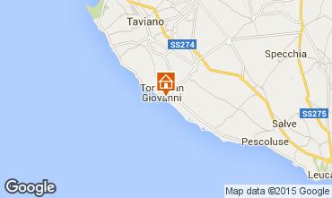 Karte Ugento - Torre San Giovanni Appartement 97977