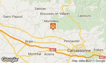 Karte Carcassonne Ferienunterkunft auf dem Land 95093