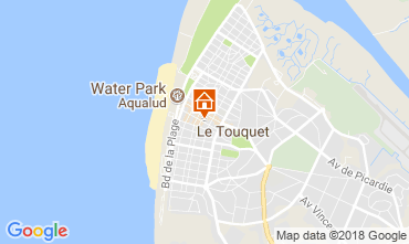 Karte Le Touquet Ferienunterkunft auf dem Land 114457