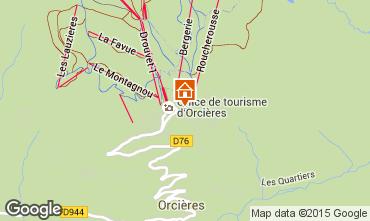 Karte Orcières Merlette Studio 50477