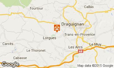 Karte Lorgues Ferienunterkunft auf dem Land 92968