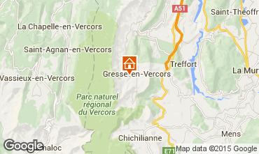 Karte Gresse en Vercors Ferienunterkunft auf dem Land 66151