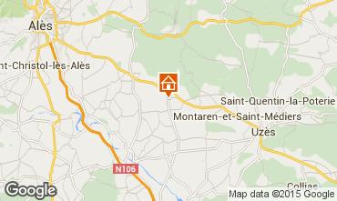 Karte Uzès Haus 96705