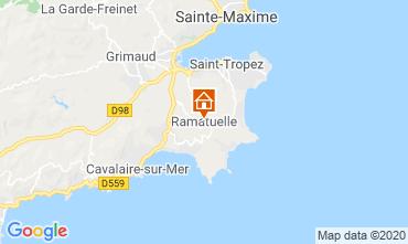 Karte Saint Tropez Mobil-Home 108259