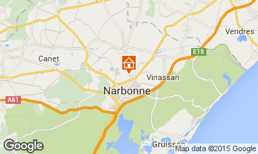 Karte Narbonne Ferienunterkunft auf dem Land 94627