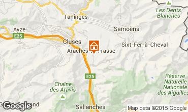 Karte Les Carroz d'Araches Studio 28096
