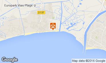 Karte Vias Plage Mobil-Home 46855