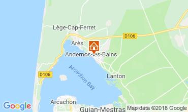 Karte Andernos les Bains Ferienunterkunft auf dem Land 116644